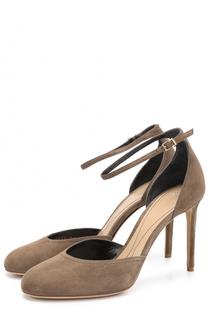 Замшевые туфли на шпильке Giorgio Armani