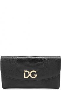 Клатч с тиснением Dauphine Dolce & Gabbana