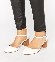 Туфли на каблуке для широкой стопы ASOS ORA - Белый