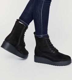 Ботинки для широкой стопы на платформе и шнуровке New Look - Черный
