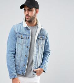 Выбеленная куртка с отделкой из искусственного меха Liquor N Poker Norton - Синий