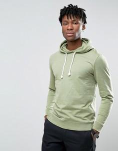 Выбеленный свитшот через голову цвета хаки Troy - Зеленый