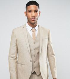 Пиджак скинни из ткани с добавлением льна в крапинку Noak - Светло-серый