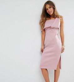 Платье-футляр на одно плечо ASOS PETITE - Фиолетовый