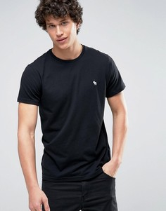 Черная обтягивающая футболка Abercrombie & Fitch Core - Черный