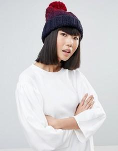 Вязаная шапочка с помпоном и эффектом омбре Genie by Eugenia Kim Brady - Мульти