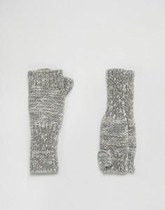 Светло-серые перчатки без пальцев Genie by Eugenia Kim Stef - Серый