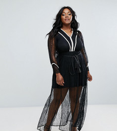 Кружевное платье макси Elvi Premium - Черный