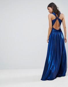Плиссированное платье макси Forever Unique - Синий