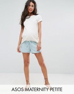 Льняные шорты для бега ASOS Maternity PETITE - Синий