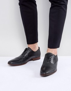 Черные кожаные оксфорды с замшевой отделкой ASOS - Черный