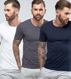 3 футболки классического кроя BOSS by Hugo Boss - Мульти