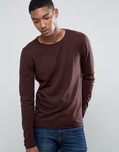 Тонкий джемпер из смеси хлопка и шелка Selected Homme - Красный