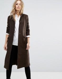 Пальто бойфренда Zibi London - Коричневый