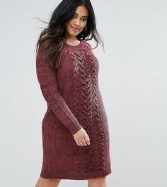 Вязаное платье-джемпер Junarose - Красный