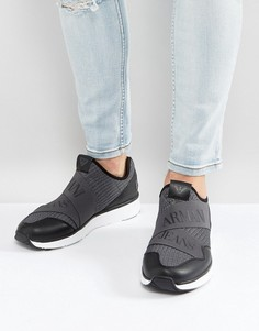 Серые трикотажные кроссовки с логотипом Armani Jeans - Серый