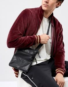 Черная сумка из искусственной кожи с логотипом Armani Jeans - Черный