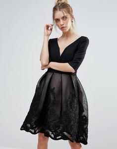 Черное платье миди Little Mistress - Черный