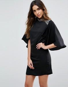 Платье с короткими рукавами Little Mistress - Черный