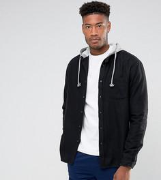 Оверсайз-рубашка с капюшоном ASOS TALL - Черный