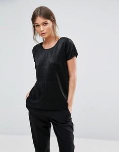 Бархатная футболка Ichi - Черный