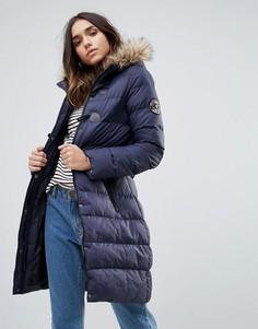 Дутое пальто средней длины Brave Soul - Темно-синий