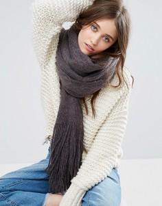Вязаный шарф с начесом Free People Kolby - Черный