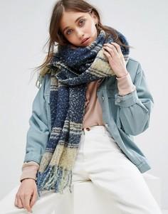 Вязаный объемный шарф Free People - Темно-синий