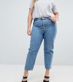 Синие прямые джинсы ASOS CURVE RECYCLED FLORENCE Authentic - Синий