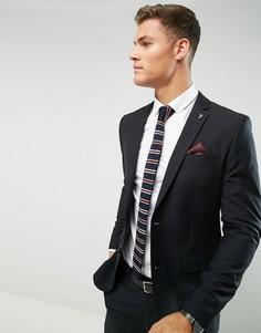 Черный приталенный пиджак Farah - Черный