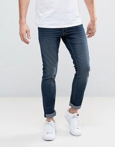 Темно-синие эластичные джинсы слим Solid - Синий