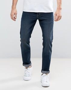 Темно-синие эластичные джинсы прямого кроя Solid - Синий