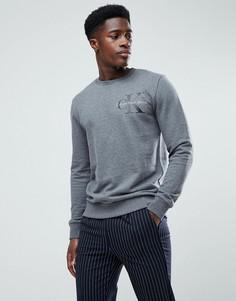 Серый свитшот с логотипом на груди Calvin Klein Jeans - Серый