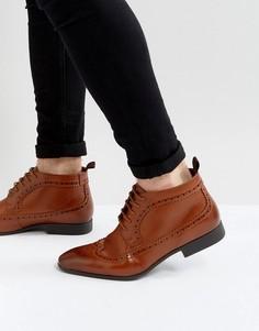 Светло-коричневые ботинки чукка ASOS - Рыжий