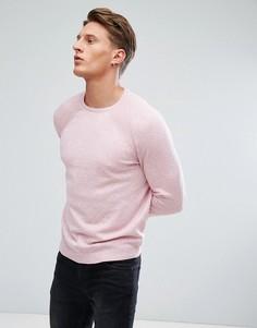 Розовый джемпер с круглым вырезом Burton Menswear - Розовый