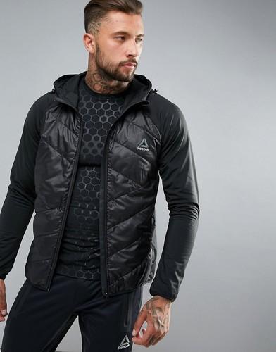 Черная дутая куртка Reebok Training Primloft CF0144 - Черный