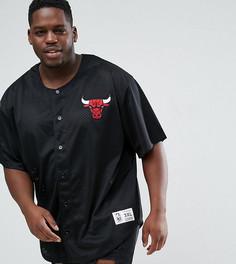 Сетчатая футболка Mitchell & Ness PLUS - Черный
