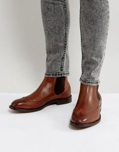 Светло-коричневые кожаные броги Hudson London - Рыжий