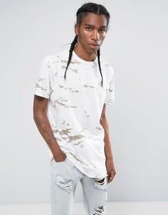 Длинная камуфляжная футболка Maharishi - Белый