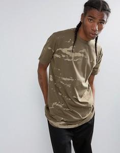 Длинная футболка с камуфляжным принтом Maharishi - Зеленый