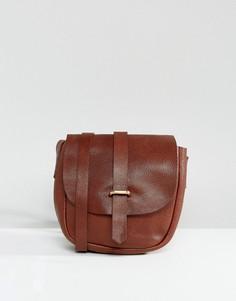 Кожаная сумка в винтажном стиле ASOS - Коричневый