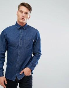 Темно-синяя джинсовая рубашка свободного кроя Jack & Jones Intelligence - Синий