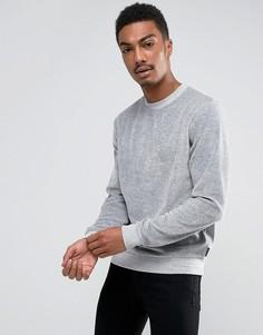 Велюровый свитшот с круглым вырезом D-Struct - Серый