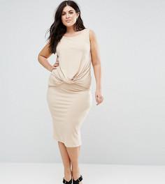Трикотажное платье без рукавов Junarose - Серый
