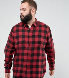 Рубашка в крупную клетку D-Struct PLUS - Красный