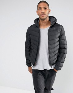 Дутая куртка с капюшоном Brave Soul - Черный