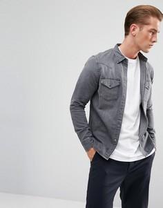 Зауженная джинсовая рубашка серого цвета в стиле вестерн Lee - Серый