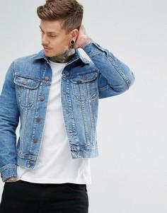 Узкая джинсовая куртка Lee Rider Vintage - Синий