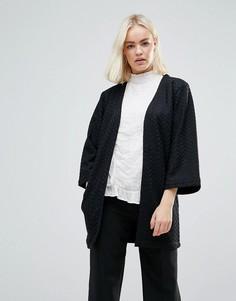 Фактурная удлиненная куртка b.Young - Черный
