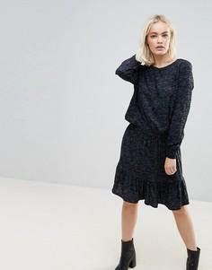 Платье-туника с заниженной талией b.Young - Мульти